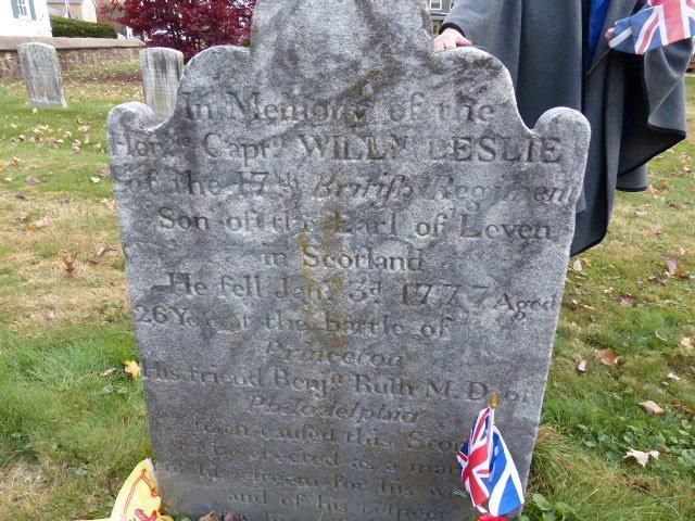 Gravestone of Captain Leslie